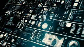 Perspectiefmening van lowpower futuristische interface/het Digitale scherm stock illustratie