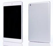 Perspectiefmening van witte tablet stock fotografie
