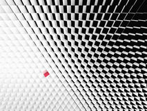 Perspectiefmening van zwart-witte kubussen Stock Foto's