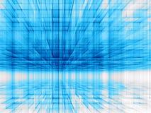 Perspectiefmuur - abstract digitaal geproduceerd beeld Stock Foto's