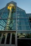 Perspectiva única do refl de Knoxville Sun Sphere e do pavilhão Fotos de Stock