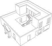 Perspectiva 1 de la casa libre illustration
