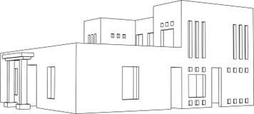 Perspectiva 2 de la casa ilustración del vector