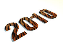 Perspectiva 2010 del tigre Foto de archivo libre de regalías