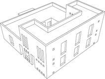 Perspectiva 6 de la casa ilustración del vector