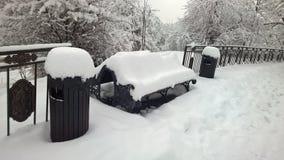 Perspectiva agradable de la visión la nieve Imagen de archivo