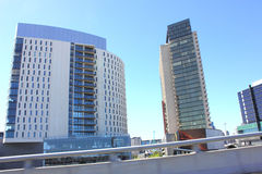 Edificios de oficinas de Highrise Fotos de archivo