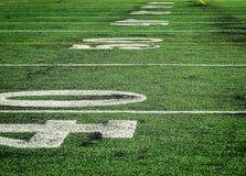 Perspectiva baja del campo del fútbol fotografía de archivo libre de regalías