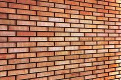 Perspectiva beige amarilla roja del fondo de la textura de la pared de ladrillo de la multa del moreno del Grunge, fondo horizont Foto de archivo