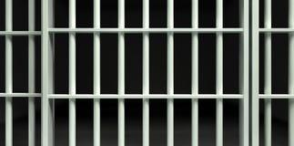 Perspectiva blanca de la celda de prisión de la barra cerrada libre illustration