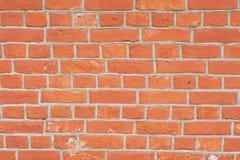 Perspectiva cercana de la pared de ladrillo roja foto de archivo libre de regalías