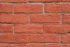 Perspectiva cercana de la pared de ladrillo roja fotos de archivo libres de regalías