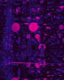 Perspectiva circular abstracta en estilo gráfico Foto de archivo libre de regalías