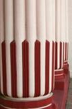 Perspectiva colorida de las columnas Foto de archivo libre de regalías