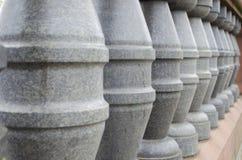Perspectiva curto das colunas Fotografia de Stock
