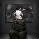 Perspectiva 3d do negócio ilustrada Imagem de Stock Royalty Free
