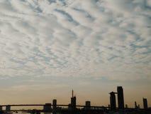Perspectiva da cidade Fotos de Stock Royalty Free