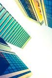 Perspectiva da construção e opinião de ângulo do lado de baixo Fotos de Stock Royalty Free