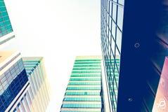 Perspectiva da construção e opinião de ângulo do lado de baixo Imagens de Stock Royalty Free