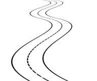 Perspectiva da estrada curvada ilustração stock