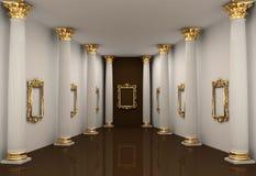 Perspectiva da galeria com coluna do Corinthian Foto de Stock