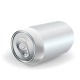 Perspectiva da lata de soda isolada Ilustração Royalty Free