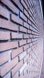 Perspectiva da parede de tijolo vermelho foto de stock royalty free