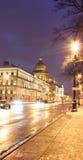 Perspectiva de Admiralteisky, St Petersburg, Rusia Imagen de archivo libre de regalías