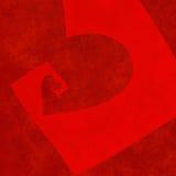 Perspectiva de desaparecimento do coração vermelho textured grande Fotos de Stock Royalty Free