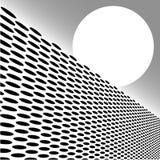 Perspectiva de Geometirc da grade do ponto Fotos de Stock