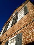Perspectiva de la casa del ladrillo del SC de Charleston Imagen de archivo libre de regalías