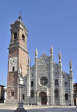 Perspectiva de la catedral, monza Foto de archivo libre de regalías