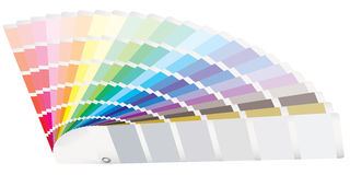 Perspectiva de la guía del color Imagen de archivo libre de regalías