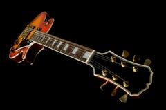 Perspectiva de la guitarra Imagen de archivo libre de regalías