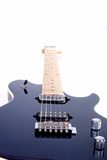 Perspectiva de la guitarra eléctrica Imagenes de archivo