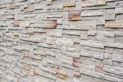Perspectiva de la pared de ladrillo Foto de archivo