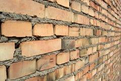 Perspectiva de la pared de ladrillo Fotos de archivo