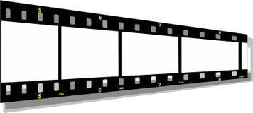 Perspectiva de la tira de la película Fotos de archivo