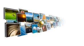 Perspectiva de las imágenes que fluyen del profundo Imagen de archivo