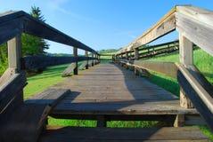 Perspectiva de madeira ao ar livre das escadas Foto de Stock