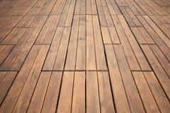 Perspectiva de madeira do assoalho Textura da foto do fundo Imagens de Stock Royalty Free