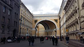 Perspectiva de Nevskiy, o quadrado do palácio Imagem de Stock Royalty Free