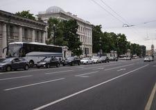 Perspectiva de Nevsky Imagen de archivo libre de regalías