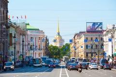 Perspectiva de Nevsky imágenes de archivo libres de regalías