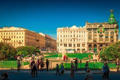 Perspectiva de Nevsky em St Petersburg, Rússia Imagem de Stock