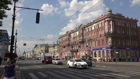 Perspectiva de Nevsky St Petersburg 4K vídeos de arquivo