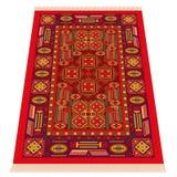 Perspectiva de Oriental de la alfombra roja ilustración del vector