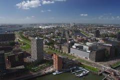 Perspectiva de Rotterdam Foto de archivo libre de regalías