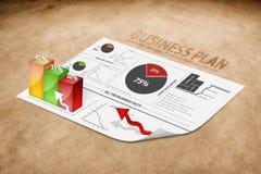 Perspectiva de um plano empresarial Imagens de Stock Royalty Free