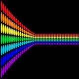 Perspectiva del arco iris ilustración del vector
